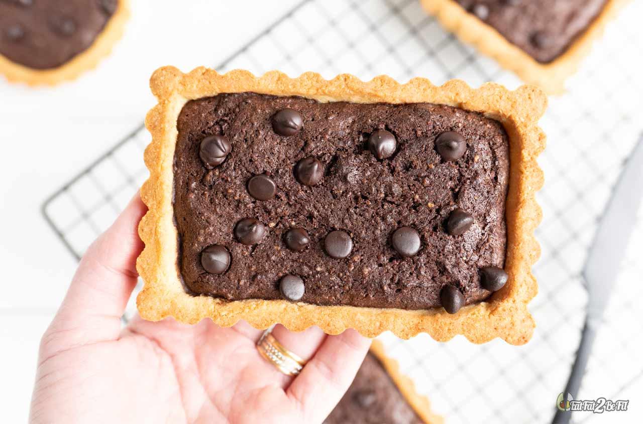 recette cétogène de tartelette au brownie ultra-fondant