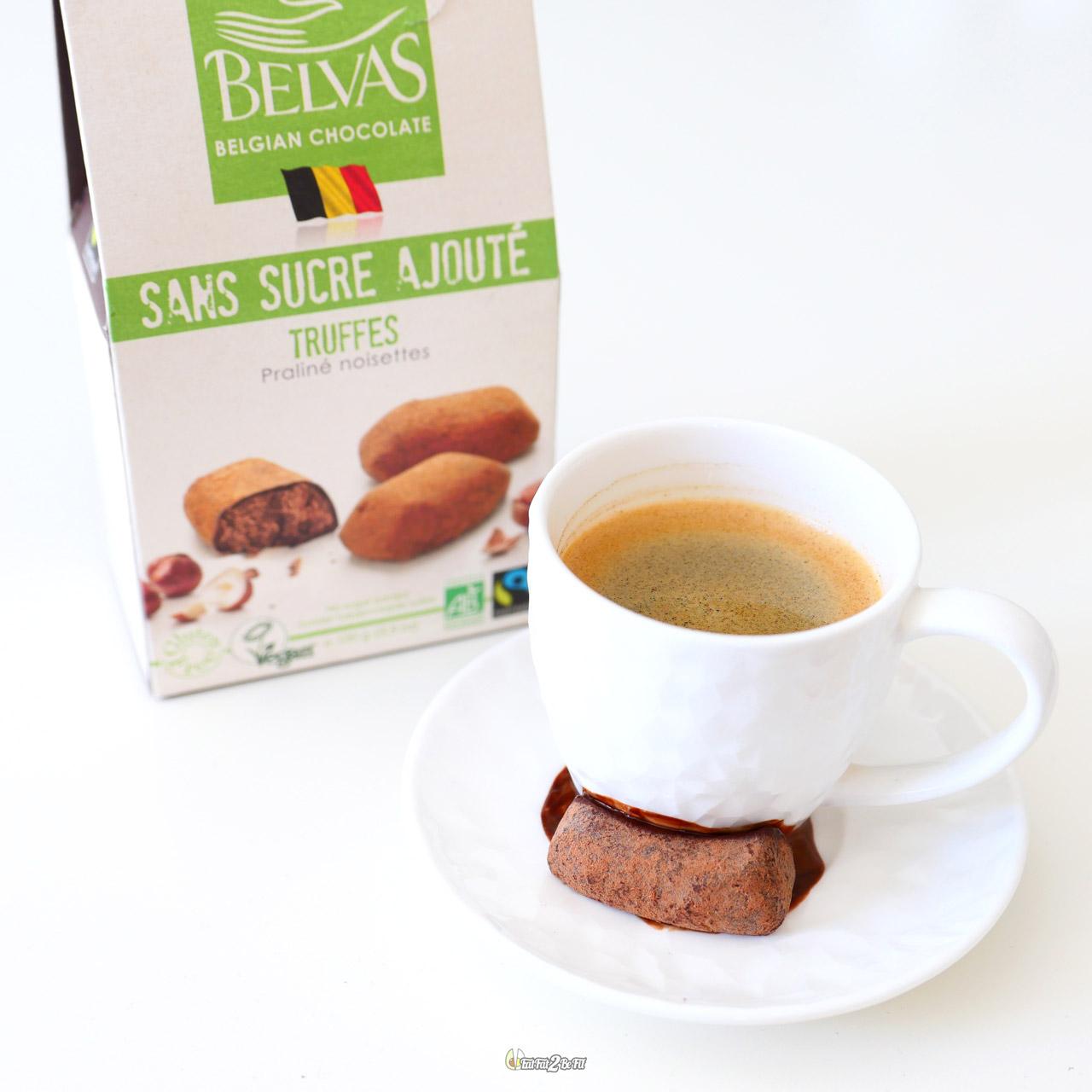 régime chocolat: truffes au praliné belvas