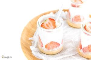 EatFat2Befit-Recette cétogène Petit suisse minute tarte aux fraises