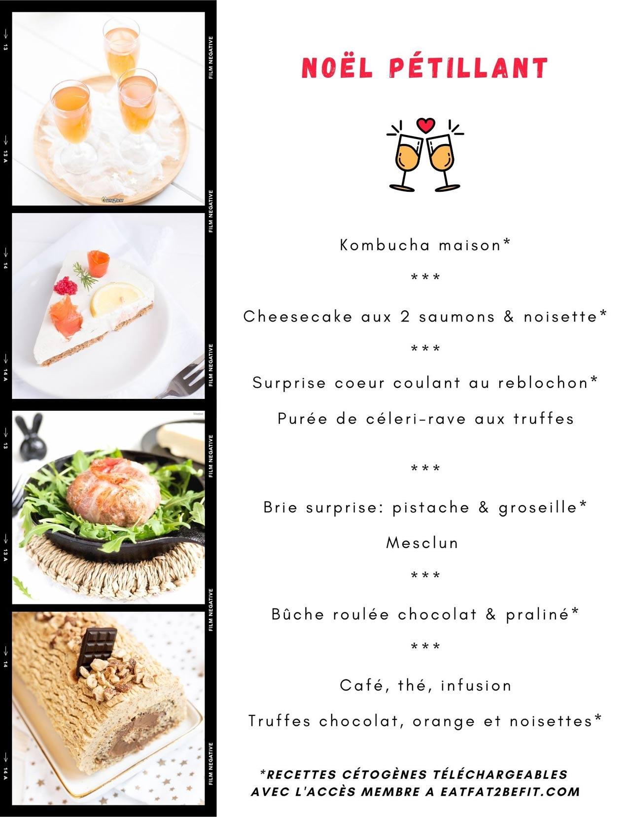Menus de fêtes cétogènes: Eatfat2befit